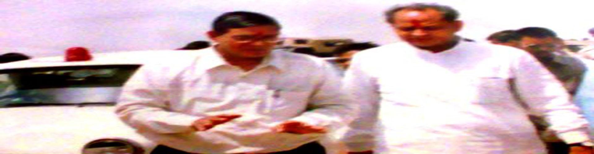 <p>RN Arvind with former CM Shri Ashok Gehlot</p>